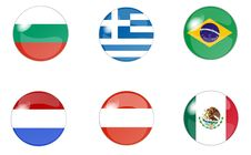 Free Set Of Buttons With Flag 2 Royalty Free Stock Photography - 10219367