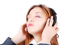 Free Sexy Girl Is Listening To Music Royalty Free Stock Photos - 10219398