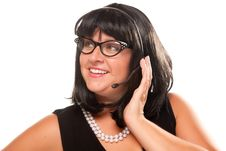 Free Black Haired Retro Receptionist Royalty Free Stock Photography - 10219727