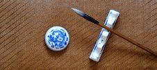 Free Chinese Writing Brush Royalty Free Stock Images - 10219899