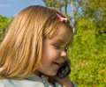 Free Little Girl With Phone Royalty Free Stock Photos - 10225788