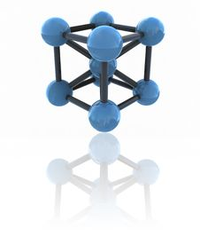 Free Isolated Molecule Royalty Free Stock Image - 10220246