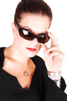 Young Woman With Sunglasses. Stock Images