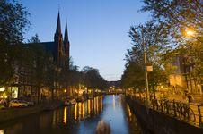 Free Amsterdam At Night Royalty Free Stock Photos - 10220778