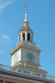Free Independence Hall Tower Royalty Free Stock Images - 10221339
