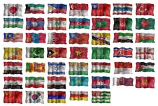 Free Set Of Asia Flags Stock Image - 10221341