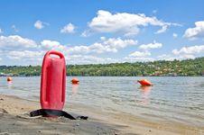 Lifeguard Buoy Royalty Free Stock Photo