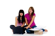 Free Teenager Girls Studying Stock Photos - 10221793
