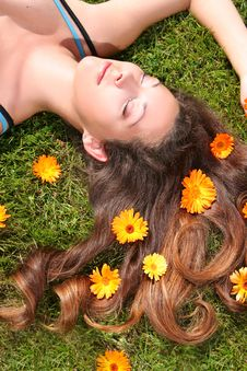 Free Dreaming In Flowers Stock Photography - 10222662