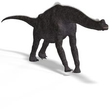 Giant Dinosaur Brachiosaurus With Clipping Path Stock Photography