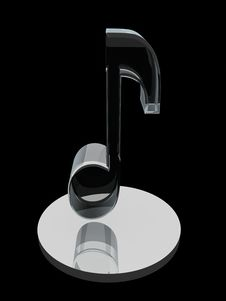 Free Glass Note Symbol On Black Stock Images - 10223914