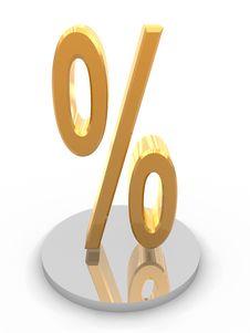 Free Golden Percent Symbol Stock Image - 10223931