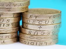 Free UK Pound Coins Stock Image - 10224061