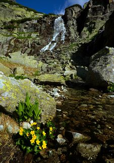 Mountains Waterfall Royalty Free Stock Photo