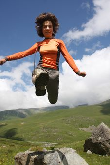Free Girl Jump Stock Photography - 10224322