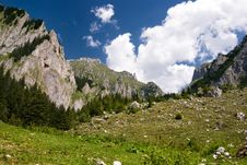 Mountain Scenery In Romania Stock Image