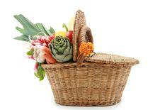 Basket Of Vegetable Stock Photo