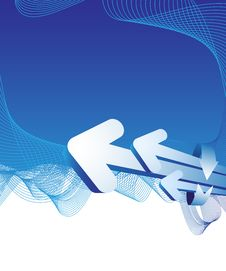 Free Blue Abstract Background With Arrows Royalty Free Stock Images - 10224899