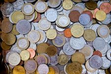 Different European Coins Stock Images