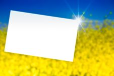 Free White Paper In  Yellow Royalty Free Stock Photos - 10225138