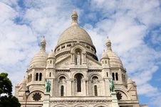 Front-view Of Sacre-Coeur Royalty Free Stock Photos