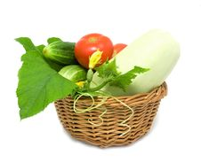 Free Vegetables In A Basket Stock Photo - 10225910