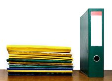 Free File Binder And Folders Royalty Free Stock Image - 10226056