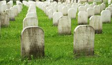 Free Old White Tombstones In A Cemetery. Royalty Free Stock Photos - 10226578