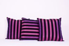 Cushion In Pink And Black Royalty Free Stock Photo