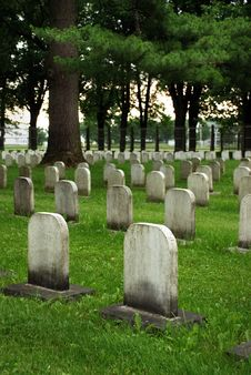 Free Old White Tombstones In A Cemetery. Stock Photography - 10226692