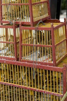 Free Cages In The Thai Monastery. Stock Photos - 10226853