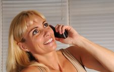 Free Woman Talking On The Phone Royalty Free Stock Photography - 10226857