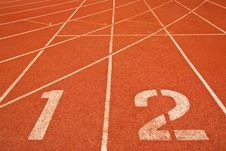 Free Racing Lane With Numbers Stock Photography - 10227092
