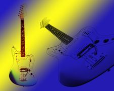 Free Two Electric Guitars Royalty Free Stock Photo - 10227985