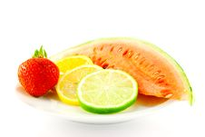 Free Citrus Fruit With Strawberry And Melon Stock Images - 10228014