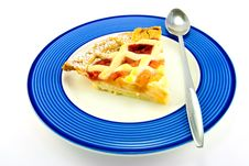 Free Slice Of Apple And Strawberry Pie Stock Photography - 10228062