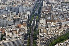 Free Paris From Top Royalty Free Stock Image - 10228686