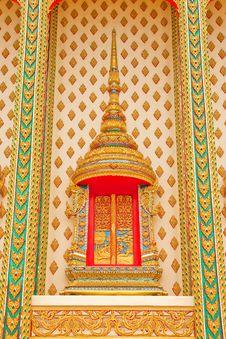 Free Traditional Thai Style Church Window Royalty Free Stock Photos - 10229378