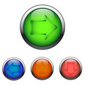 Free Navigation Color Buttons (vector) Royalty Free Stock Photo - 10234865