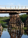 Free Wooden Bridge Footing Stock Photo - 10235800