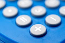 Macro Of Buttons On A Calculator