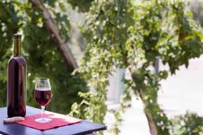 Free Wine At Table Stock Photo - 10231320