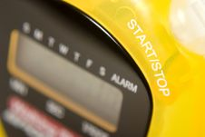 Yellow Stop Watch Royalty Free Stock Photos