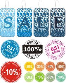 Free Sale Set Royalty Free Stock Photos - 10232448