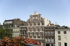 Typical Dutch Houses In Amsterdam Royalty Free Stock Images