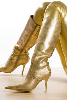 Free Golden Boots Stock Photos - 10233163