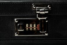 Business Suitcase Combination Lock Royalty Free Stock Image