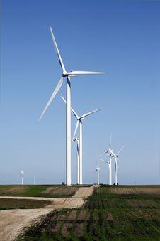 Free Wind Turbine On Dirt Road Stock Image - 10234091