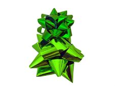 Free Isolated Green Gift Bow - Present Wrapping Royalty Free Stock Photo - 10234305