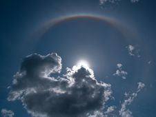 Free Halo Nimbus Icebow Clouds Formation Stock Photos - 10234653